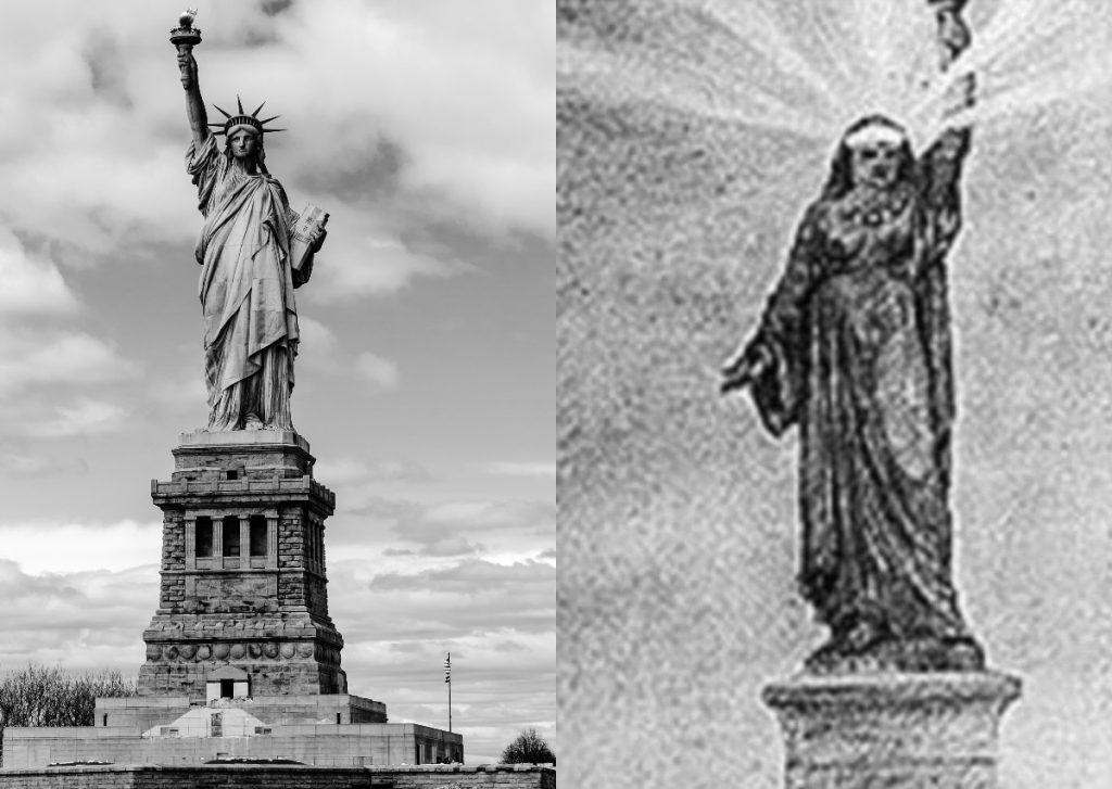 تمثال الحرية صمم في الأصل كتمثيل لإمرأة مصرية